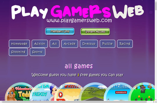 Play Gamers Web